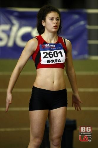 Радостина Стоянова от ЛАСК Локомотив (Русе) е държавен първенец на 60 м при девойките старша възраст от националните шампионати за 2014 г.