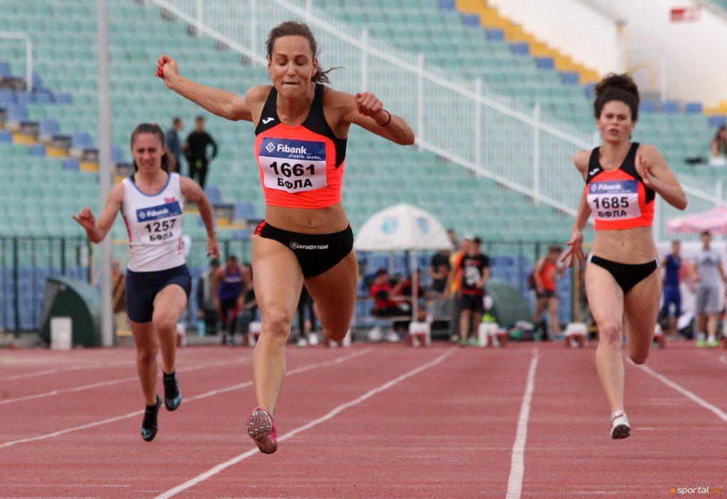 Инна Ефтимова спечели поредна титла на 100 м. Снимка: sportal.bg