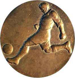 Медал от финала на Железничарската купа през 1936 г.