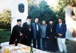 Освещаване на паметника на Слави Калчев.